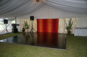 The dancefloor in the marquee