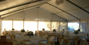 Sandy and John's marquee all set up.